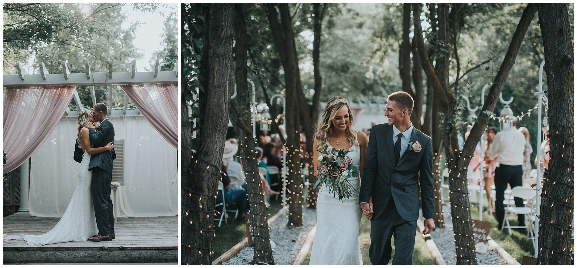 Boho Elegant Fourth Street Gardens Wedding Boise Idaho