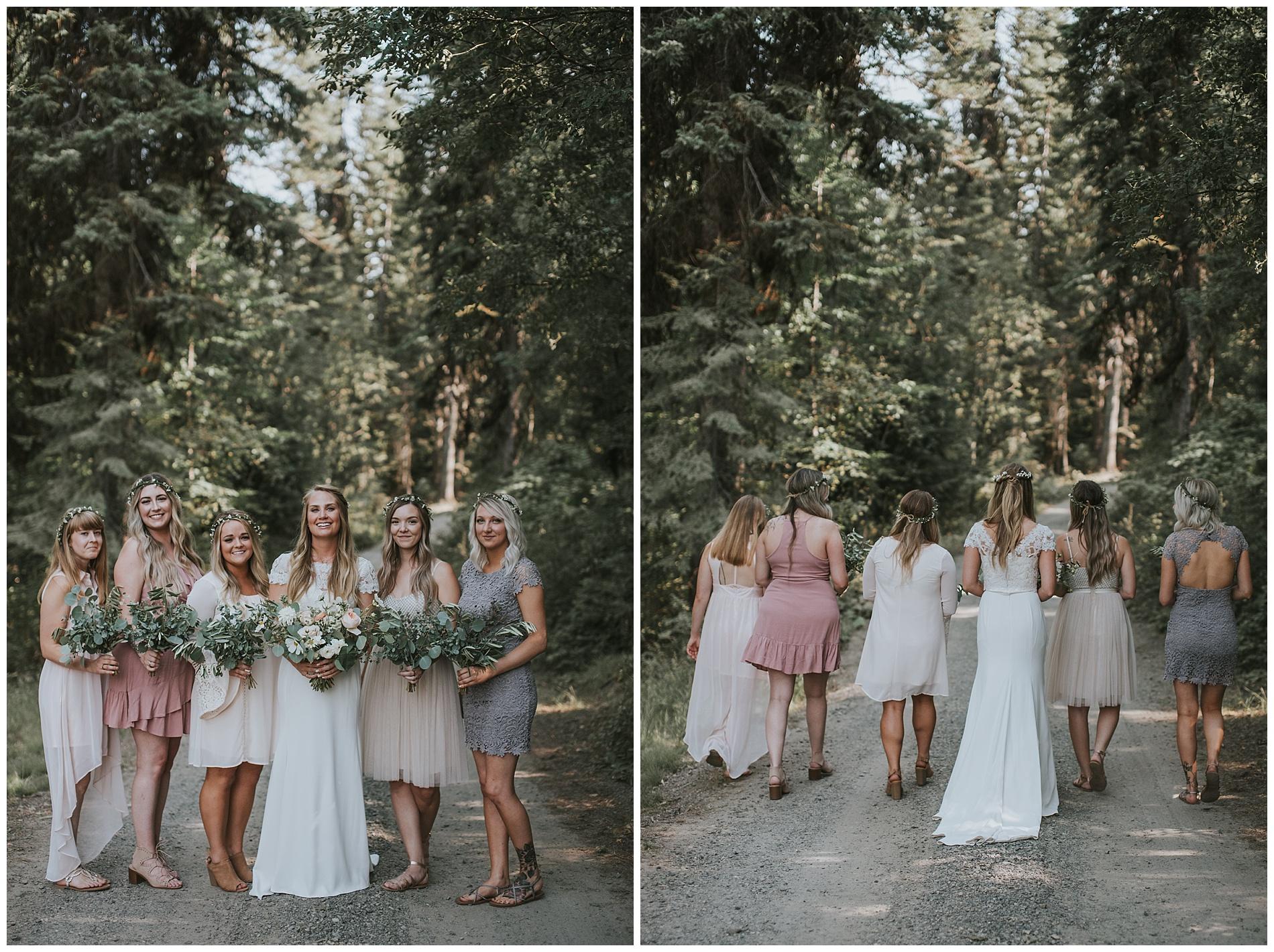 Boho Bridesmaids in McCall idaho