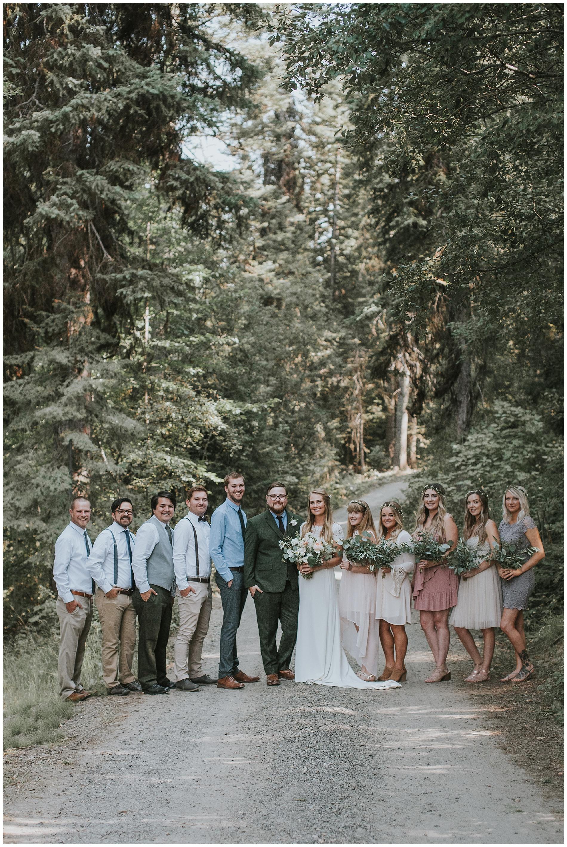 Boho Wedding Party McCall Idaho