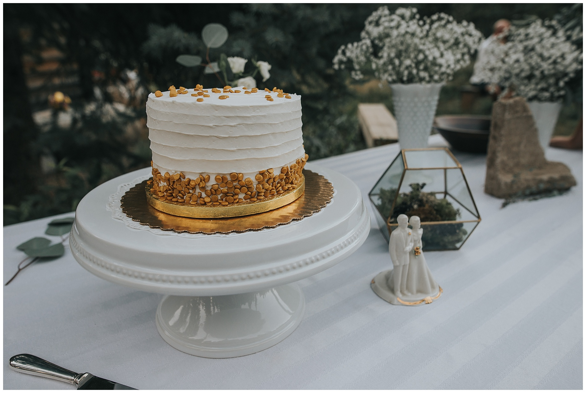 Boho Geometric Wedding Cake McCall Idaho