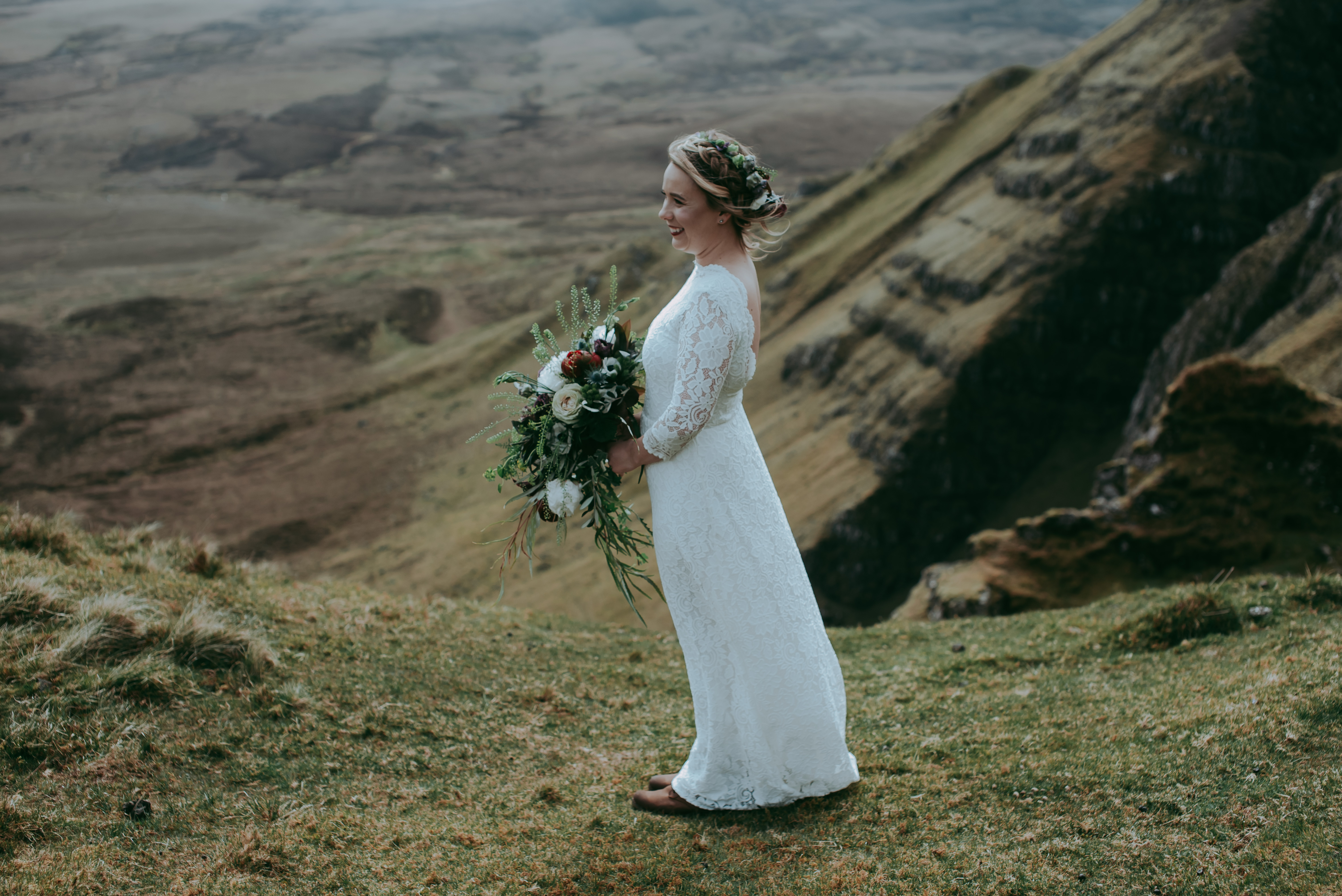 Isle of Skye Quiraing Scotland elopement