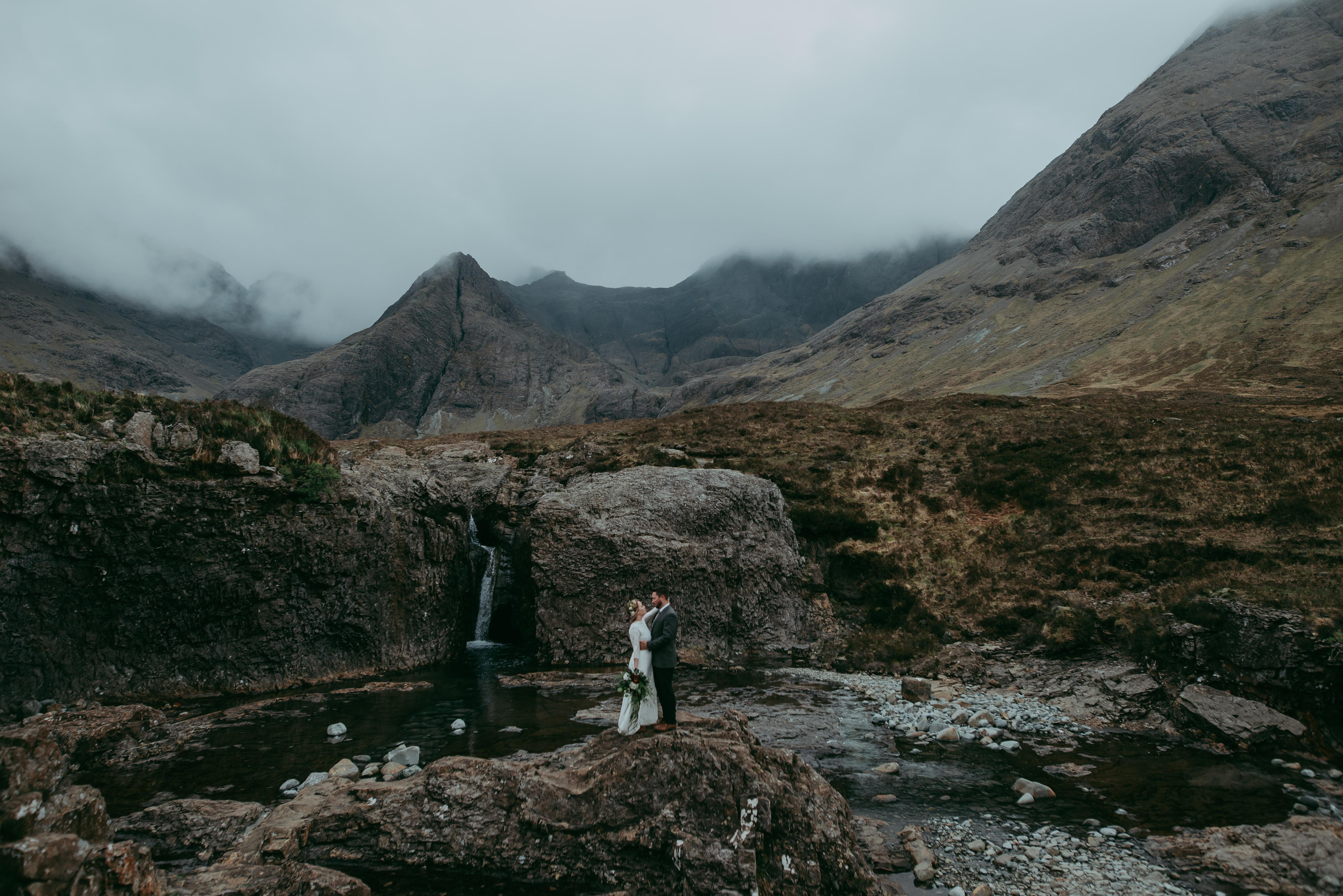 Fairy Pools Scotland Elopement