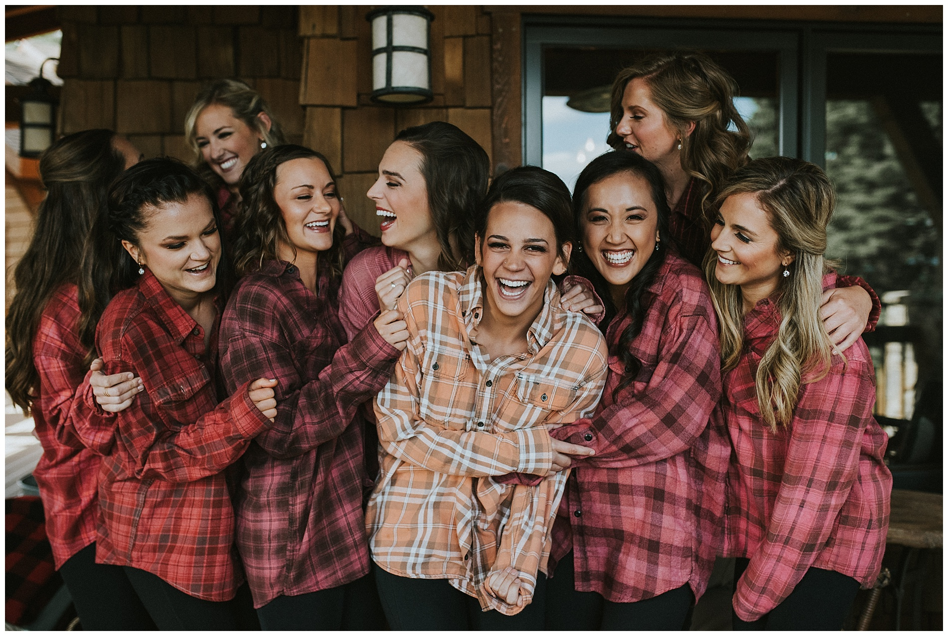 Bridesmaids in Shore Lodge Wedding McCall Idaho