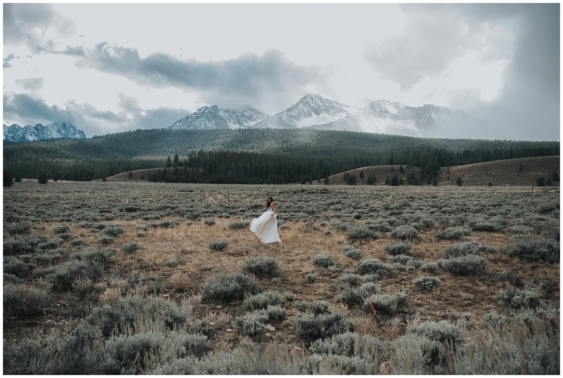 Sawtooth mountains wedding