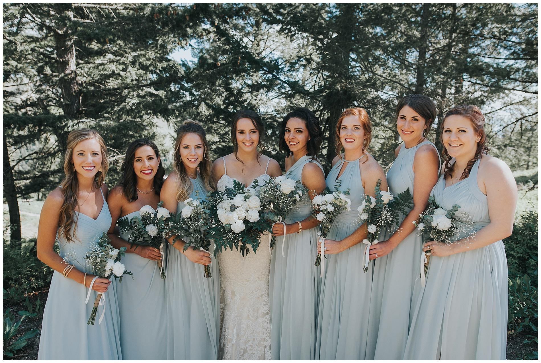 Bridesmaids Baby Blue Wedding