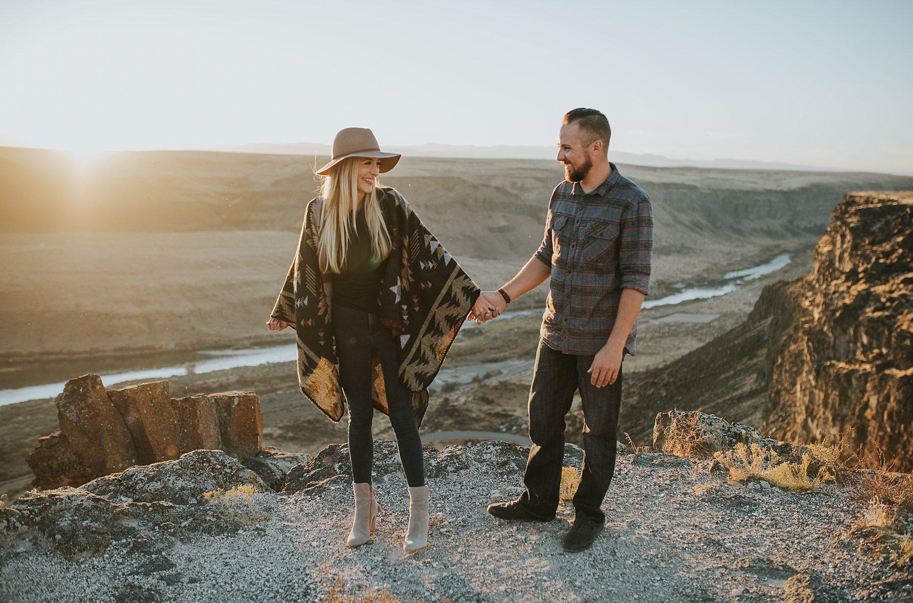 Fall Swan Falls Idaho Engagement Sessions
