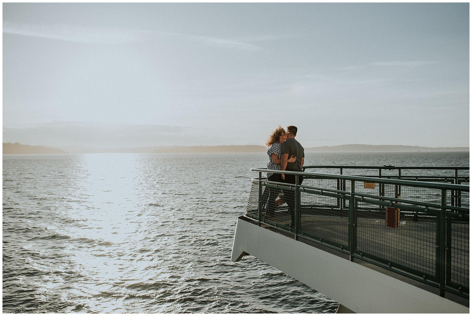 Bainbridge Island Ferry Engagement Session