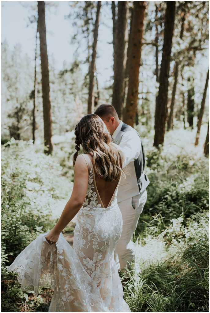 Forest wedding in the Pacific Northwest