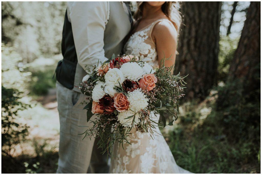 Summery Boho Bouquet Moscow Idaho Wedding Photographer