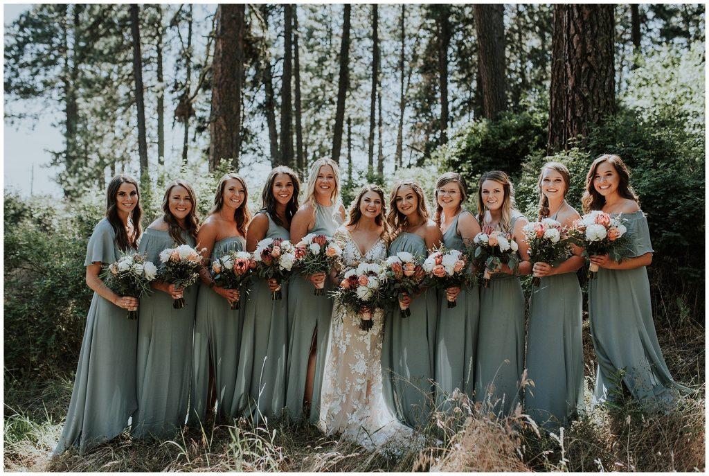 Boho Bridesmaids Dresses in Moscow Idaho