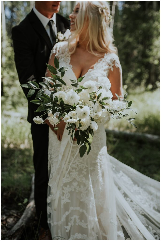 Boho Floral Bouquet by Rust and Thistle in McCall Idaho