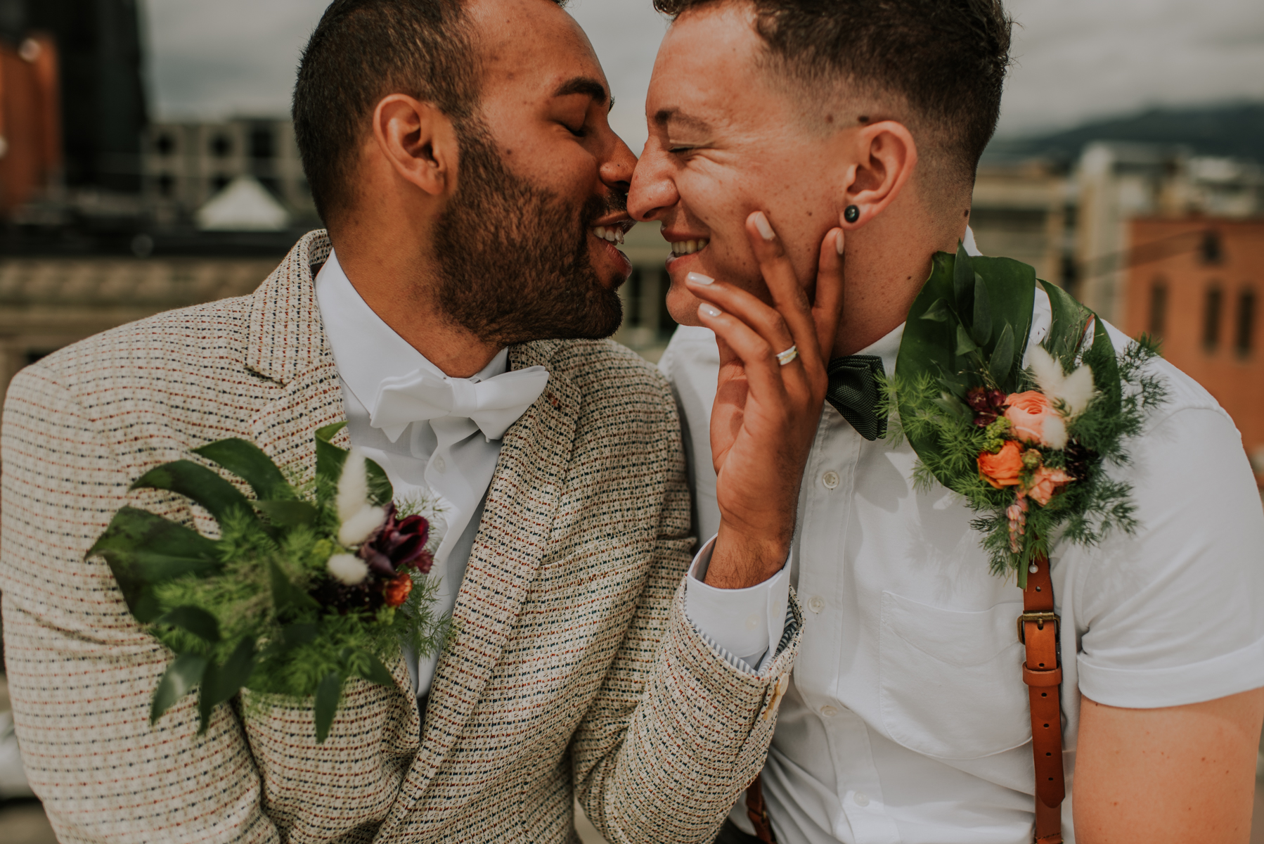 Same sex Montana wedding